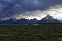 Grand Teton National Park, approaching storm, Mt. Moran